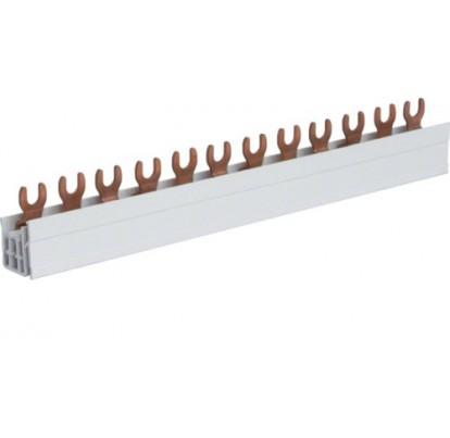 Шина соединительная вилочна, 3-полюсна на 12 модулей, с изоляцией, 10мм2